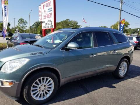 2009 Buick Enclave for sale at 1st Choice Auto Sales in Newport News VA