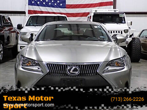 2016 Lexus RC 200t for sale at Texas Motor Sport in Houston TX