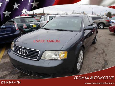2004 Audi A6 for sale at Cromax Automotive in Ann Arbor MI