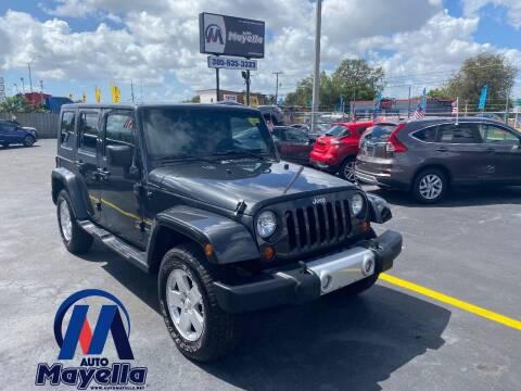 2010 Jeep Wrangler Unlimited for sale at Auto Mayella in Miami FL