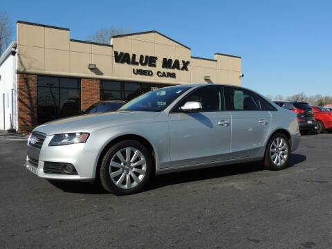 2012 Audi A4 for sale at ValueMax Used Cars in Greenville NC