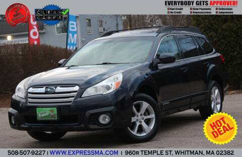 2013 Subaru Outback for sale at Auto Sales Express in Whitman MA