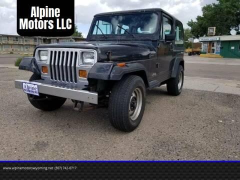 1992 Jeep Wrangler for sale at Alpine Motors LLC in Laramie WY