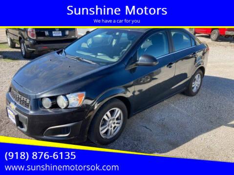 2015 Chevrolet Sonic for sale at Sunshine Motors in Bartlesville OK