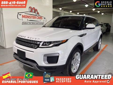 2016 Land Rover Range Rover Evoque for sale at Monster Cars in Pompano Beach FL