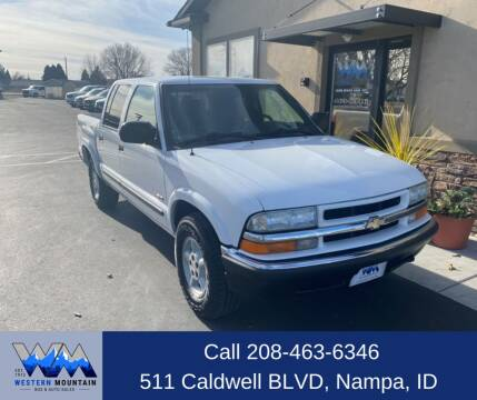 2002 Chevrolet S-10 for sale at Western Mountain Bus & Auto Sales in Nampa ID