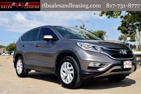 2016 Honda CR-V for sale at RLB Sales and Leasing in Fort Worth TX