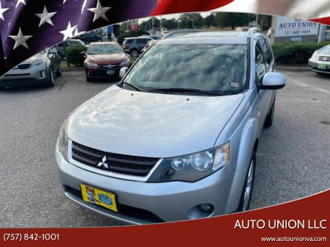 2008 Mitsubishi Outlander for sale at Auto Union LLC in Virginia Beach VA
