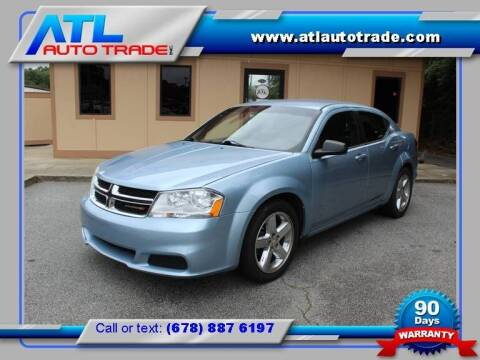 2013 Dodge Avenger for sale at ATL Auto Trade, Inc. in Stone Mountain GA