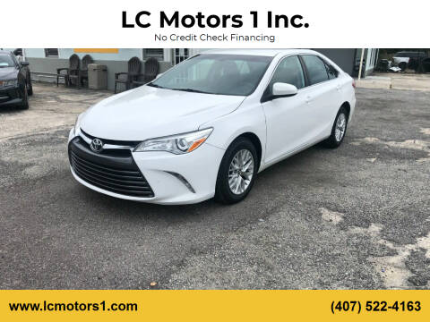 2017 Toyota Camry for sale at LC Motors 1 Inc. in Orlando FL
