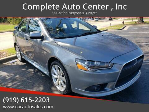 2012 Mitsubishi Lancer for sale at Complete Auto Center , Inc in Raleigh NC