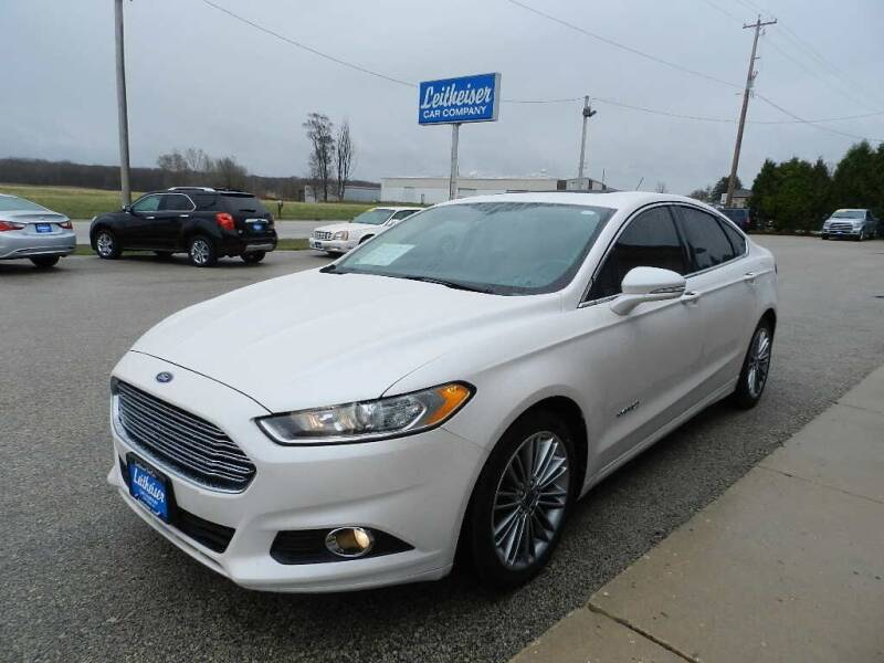 2013 Ford Fusion Hybrid for sale at Leitheiser Car Company in West Bend WI