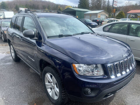 2012 Jeep Compass for sale at BURNWORTH AUTO INC in Windber PA