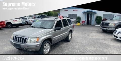 2001 Jeep Grand Cherokee for sale at Supreme Motors in Tavares FL