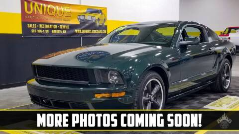 2008 Ford Mustang for sale at UNIQUE SPECIALTY & CLASSICS in Mankato MN