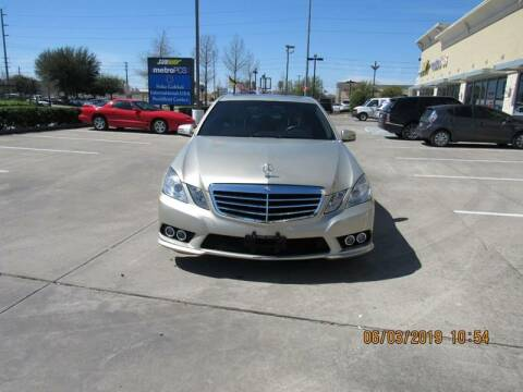 2010 Mercedes-Benz E-Class for sale at ATLANTIC MOTORS GP LLC in Houston TX