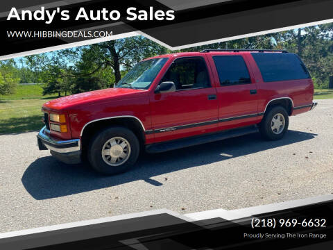 1999 GMC Suburban for sale at Andy's Auto Sales in Hibbing MN