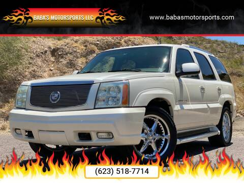 2004 Cadillac Escalade for sale at Baba's Motorsports, LLC in Phoenix AZ