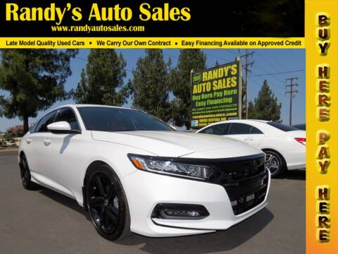 2019 Honda Accord for sale at Randy's Auto Sales in Ontario CA