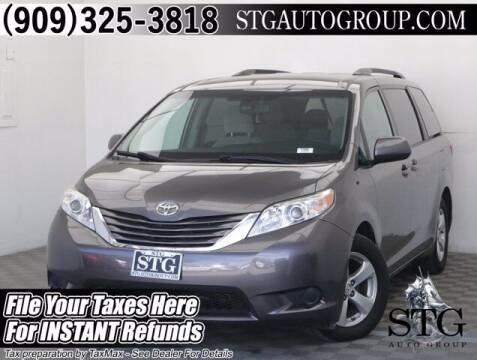 2016 Toyota Sienna for sale at STG Auto Group in Montclair CA