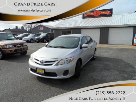 2012 Toyota Corolla for sale at Grand Prize Cars in Cedar Lake IN