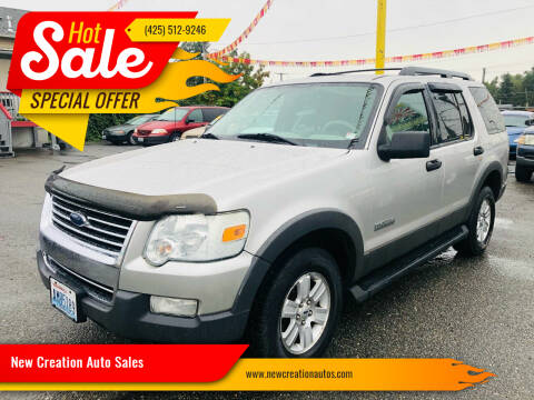2006 Ford Explorer for sale at New Creation Auto Sales in Everett WA