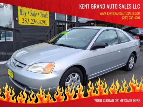2002 Honda Civic for sale at KENT GRAND AUTO SALES LLC in Kent WA