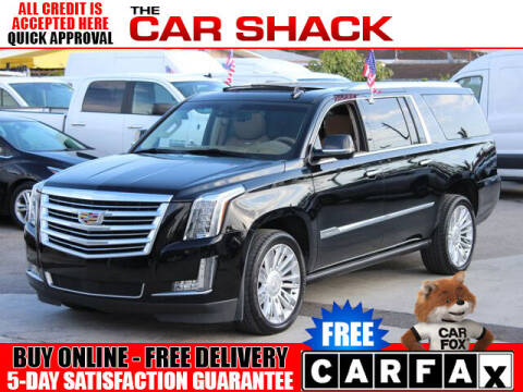 2015 Cadillac Escalade ESV for sale at The Car Shack in Hialeah FL