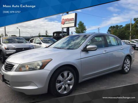 2008 Honda Accord for sale at Mass Auto Exchange in Framingham MA