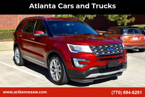 2017 Ford Explorer for sale at Atlanta Cars and Trucks in Kennesaw GA