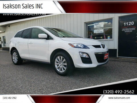2012 Mazda CX-7 for sale at Isakson Sales INC in Waite Park MN