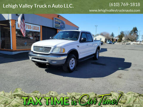 2001 Ford F-150 for sale at Lehigh Valley Truck n Auto LLC. in Schnecksville PA