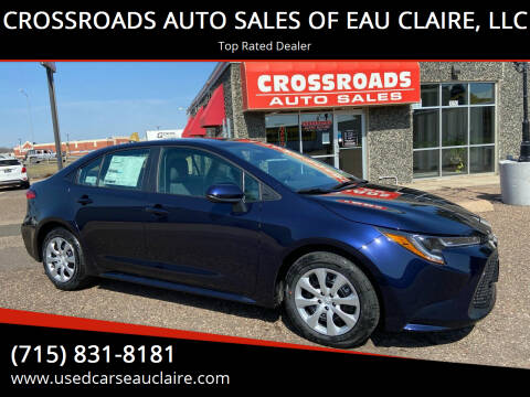 2021 Toyota Corolla for sale at CROSSROADS AUTO SALES OF EAU CLAIRE, LLC in Eau Claire WI