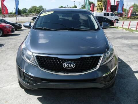 2016 Kia Sportage for sale at SUPERAUTO AUTO SALES INC in Hialeah FL