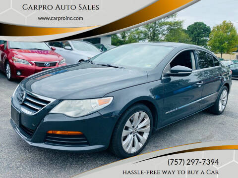 2012 Volkswagen CC for sale at Carpro Auto Sales in Chesapeake VA