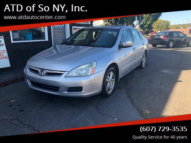 2007 Honda Accord for sale at ATD of So NY, Inc. in Johnson City NY