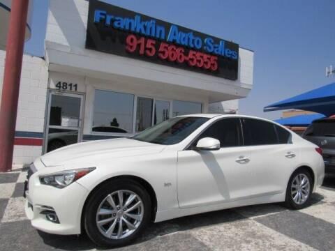 2017 Infiniti Q50 for sale at Franklin Auto Sales in El Paso TX