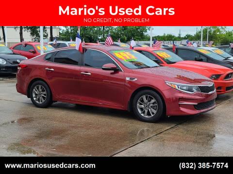 2017 Kia Optima for sale at Mario's Used Cars in Houston TX