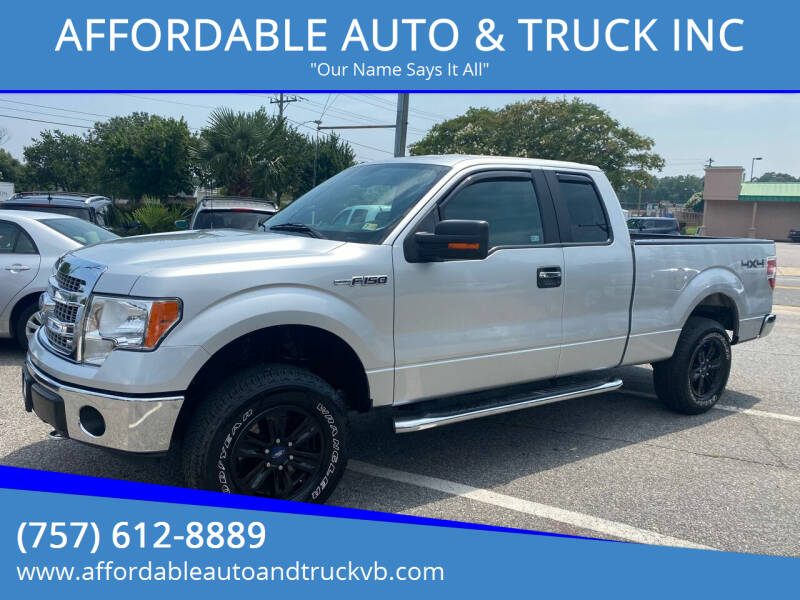 2013 Ford F-150 for sale at AFFORDABLE AUTO & TRUCK INC in Virginia Beach VA
