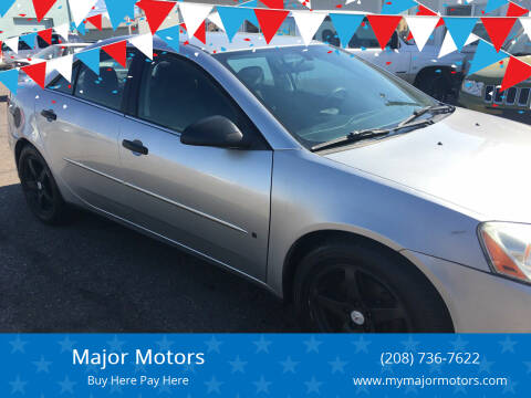 2007 Pontiac G6 for sale at Major Motors in Twin Falls ID