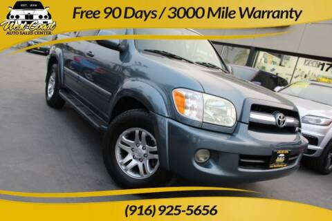 2005 Toyota Sequoia for sale at West Coast Auto Sales Center in Sacramento CA