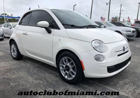 2015 FIAT 500 for sale at AUTO CLUB OF MIAMI in Miami FL