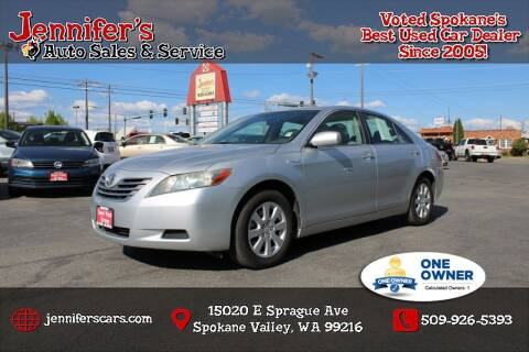 2007 Toyota Camry Hybrid for sale at Jennifer's Auto Sales in Spokane Valley WA