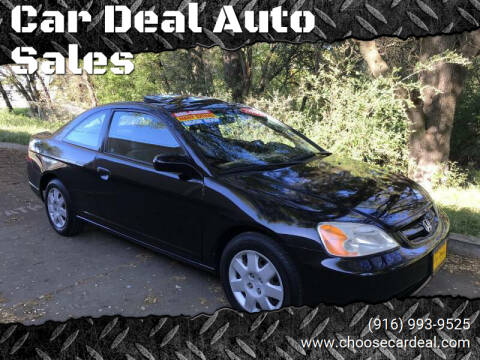 2002 Honda Civic for sale at Car Deal Auto Sales in Sacramento CA