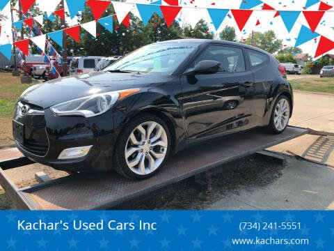2012 Hyundai Veloster for sale at Kachar's Used Cars Inc in Monroe MI