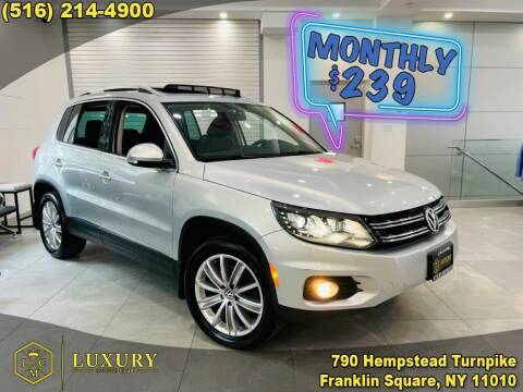 2016 Volkswagen Tiguan for sale at LUXURY MOTOR CLUB in Franklin Square NY