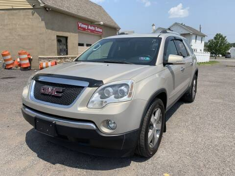 2011 GMC Acadia for sale at VINNY AUTO SALE in Duryea PA