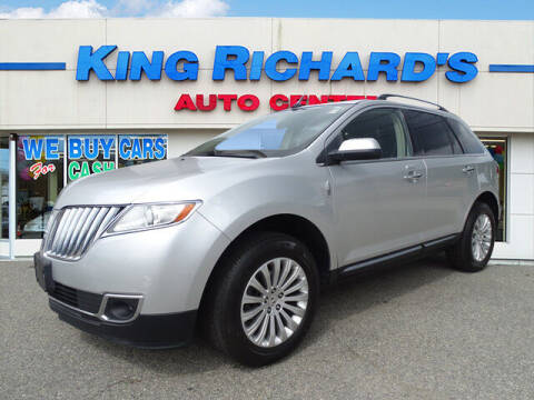 2012 Lincoln MKX for sale at KING RICHARDS AUTO CENTER in East Providence RI