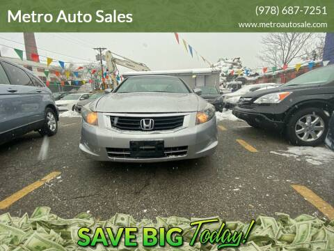 2009 Honda Accord for sale at Metro Auto Sales in Lawrence MA
