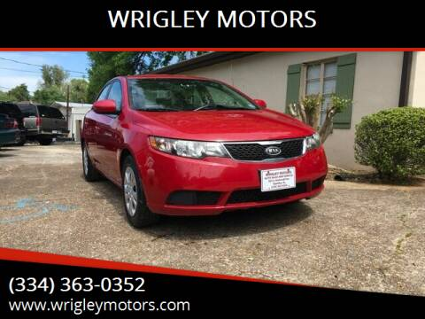 2013 Kia Forte for sale at WRIGLEY MOTORS in Opelika AL